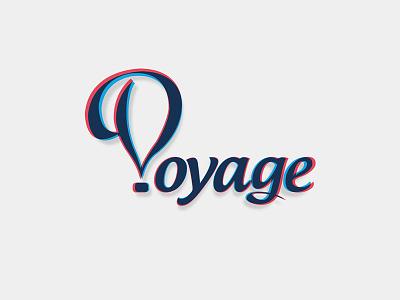 Voyage voyage travel tv channel logotype branding