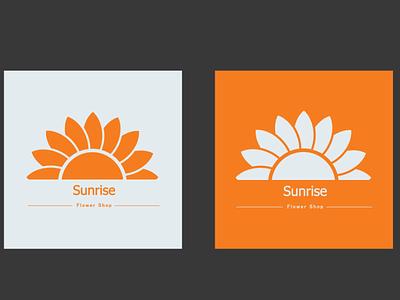 Sunrise -- Flower Shop design minimal logo branding