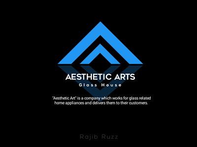 Logo Design For 'Aesthetic Arts' icon vector minimal design logo