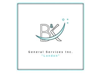 Logo Design for 'B&k' General Services branding minimal logo design