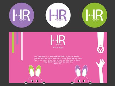 'HR Foundation' illustration branding design logo