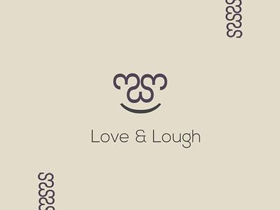 'Love & Laugh' icon minimal design logo