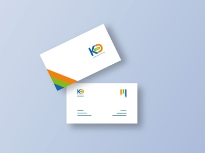 Business Card design for 'KD' company branding logo icon design ui minimal business card design