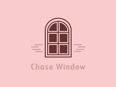 Chase Window Logo Design ui branding icon minimal design logo