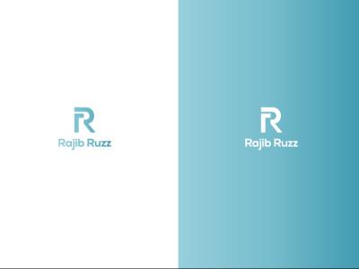 R logo design typography vector ui branding icon minimal design logo