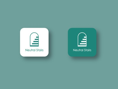 Logo design for 'Neutral Stairs' vector illustration icon minimal design logo