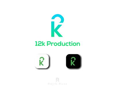 Logo Design for ' 12k Production' icon minimal design logo