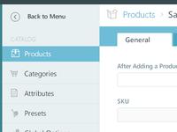 E-commerce admin page