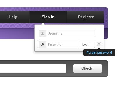Login form login user menu form popup sign in magenta