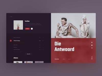Die Antwoord - Ten$ion Album mamulashvili tato design typography product app web antwoord die music ux ui