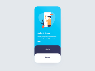 Sign In / Sign Up UI Animation design mamulashvili tato app product ui ux animation interaction illustration vector madewithadobexd antwoord bank sign in sign up onboard onboarding onboarding ui onboarding screen