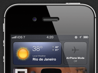 iOS 7 - Concept | Dashboard