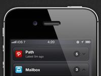 iOS 7 - Concept | Notification Center
