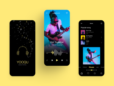 Music Player App Design music audio song listening app spotify listeing musics clean minimalist app music player design ux ui play playlist music player ui music app mobile ui mobile