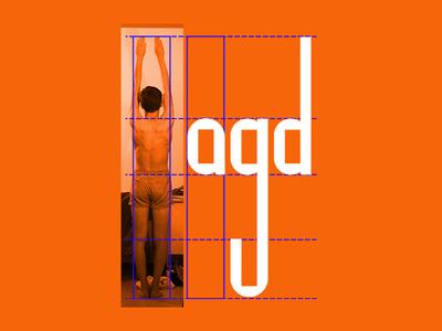 Ego, an experimental display font