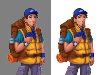Hiker hiker character design illustration
