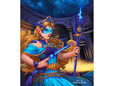 High Elf - The Silent Priestess priestess elf illustration character design