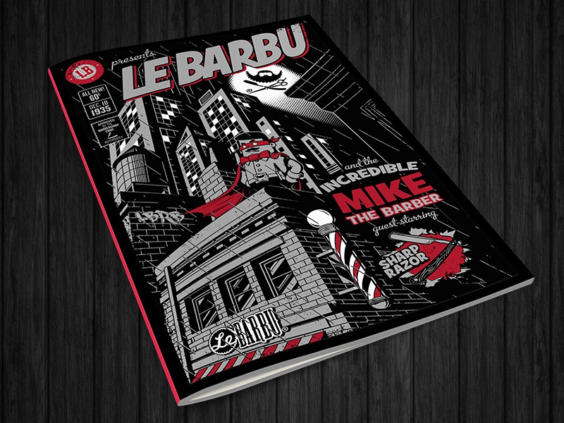 Le Barbu - Incredible Mike cover comics batman mike barbershop le barbu lebarbu