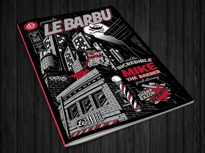 Le Barbu - Incredible Mike cover comics batman mike barbershop le barbu lebarbu