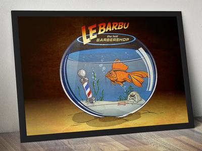Le Barbu - The Lost Barbershop aquarium barberpole fish lost ark indiana jones barbershop le barbu lebarbu