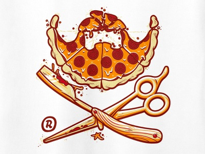 Le Barbu - Le Barbu's Finest Barbershop junk food pepperoni pizza barbershop le barbu lebarbu