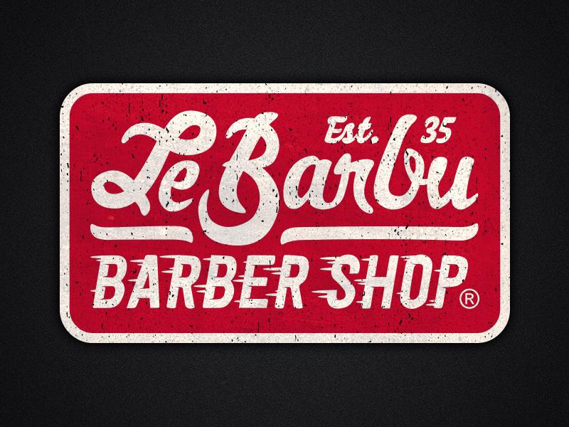 Le Barbu - Speed'Barbershop old plate lettering vintage speed speed shop hot rod barbershop le barbu lebarbu