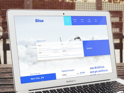 Flight search / web design concept ui ux webdesign website travel blue design web search flight