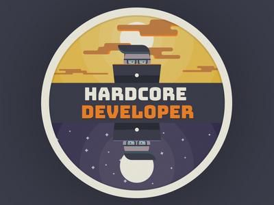Hardcore Developer Illustration