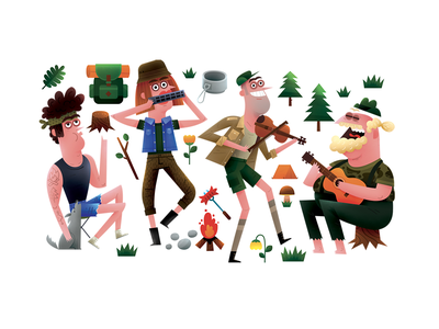 czech summer holiday musicians band summer camp woods country czech holiday summer