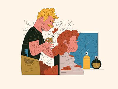 hairdresser illustration fashion hair salon job hairdresser