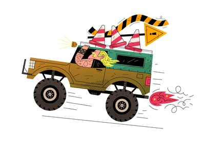 🚧HEAVY MACHINERY🚧 construction happy blonde tattoo machinery heavy print kids truck car