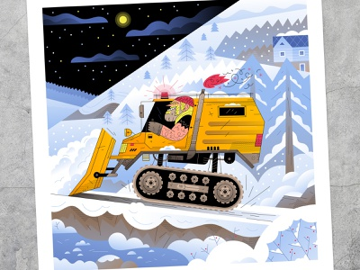 🚧HEAVY MACHINERY🚧 driver trucker ice river woods tree cold mountains winter heavy truck