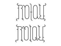 Ambigram in Progress