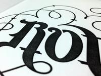 Ambigram - Work In Progress 3.0