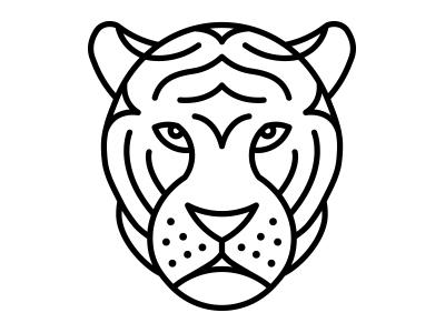 Minimal 149 illustration vector minimal minimals yearofminimals tiger cat
