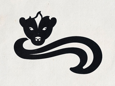 Minimal 153 illustration vector animal minimal minimals yearofminimals texture skunk pepe le pew