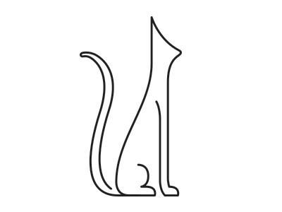 Minimal166 minimals cat llustration yearofminimals serval minimal line feline simple minimalist