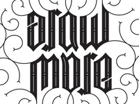 Draw More Ambigram // Final