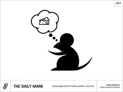 The Daily Mark 027 - Mouse praying for cheese