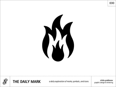 The Daily Mark 030 - Flame/Fire