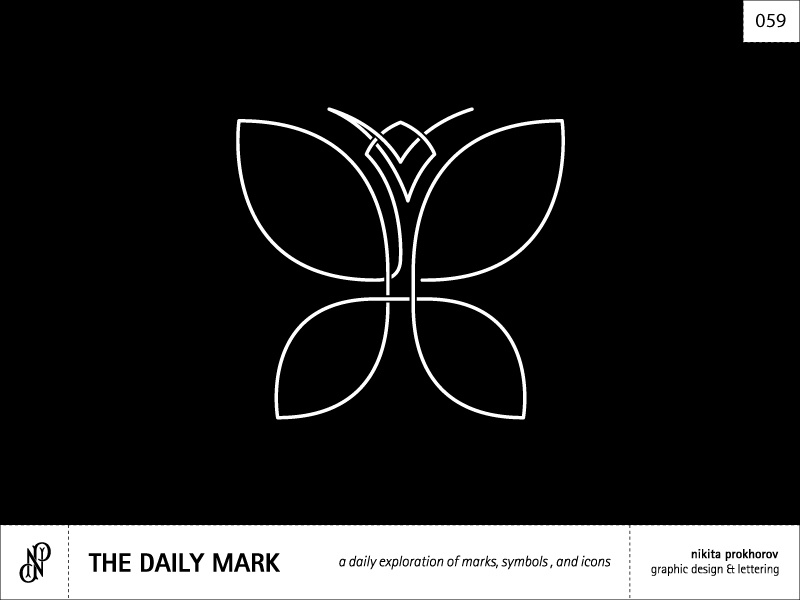 The Daily Mark 059 - Butterfly design logo logomark mark symbol icon graphic design illustration butterfly nature symmetry balance