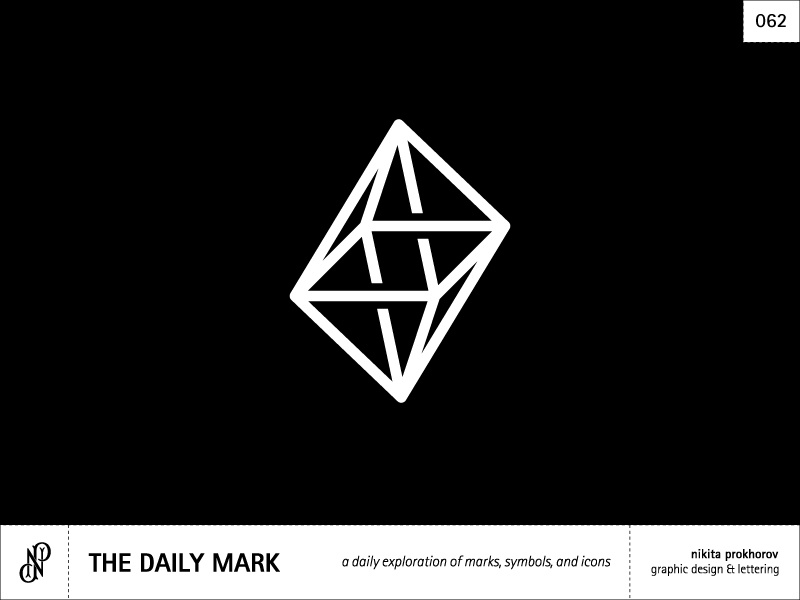 The Daily Mark 062 - Abstract Pyramid design logo illustration logo mark mark icon symbol graphic design illusion escher abstract
