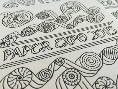 Paper Expo 2015 // The Art Directors Club identity logo branding paper expo letterpress adc the art directors club new york city nyc