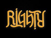 Righty // Ambigram