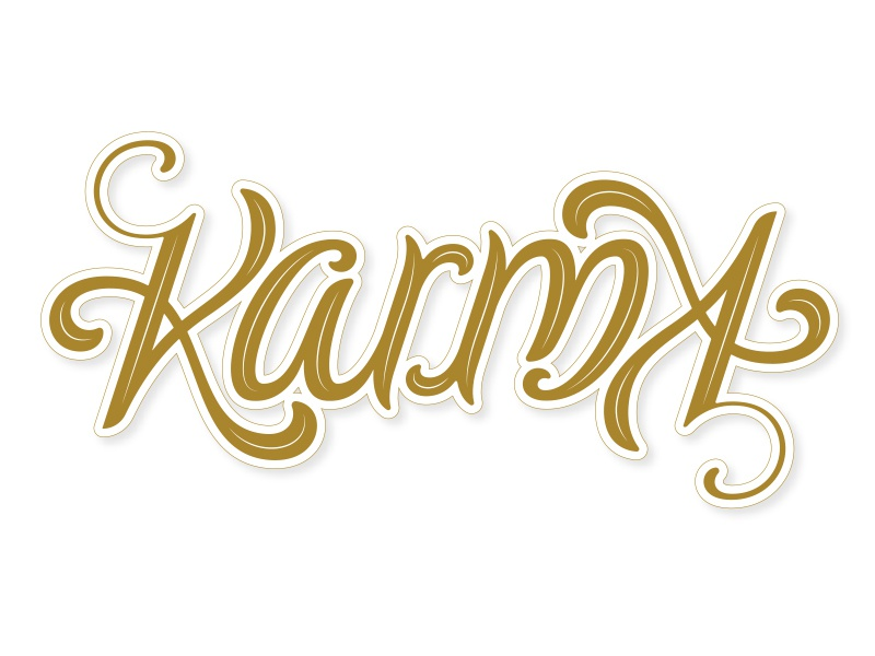 Karma Ambigram ambigram hand lettering lettering typography type