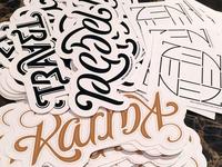 Ambigram sticker 4-pack