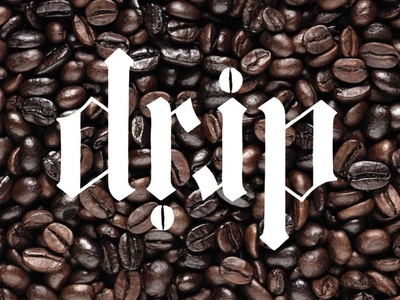 Coffee's on me! coffee typography type hand lettering lettering
