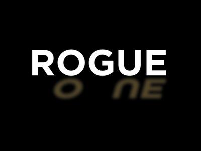 Rogue One typography type logo movie star wars