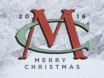 Merry Christmas fellow Dribbblers! hand lettering lettering type typography holidays christmas