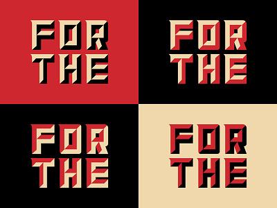 Propaganda!! custom lettering typography type
